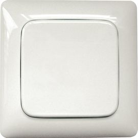 Wireless sensor, pushbuttons without battery or wire FT55R-white, rocker with radius, without frame.